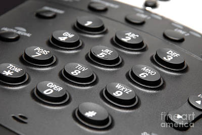 Office Phone Keypad Picture Art Print by Paul Velgos