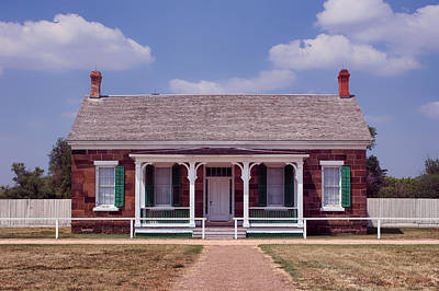 Photograph - Officers Quarters - Fort Larned - Kansas by Nikolyn McDonald