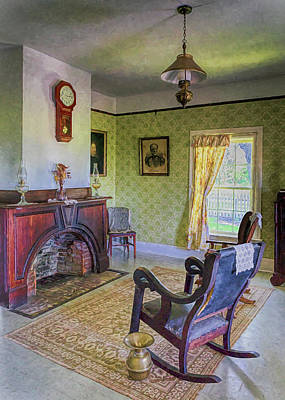 Photograph - Officer's Quarters Parlor by Susan Rissi Tregoning