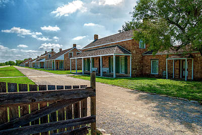 Photograph - Officer's Row by Travis Burgess