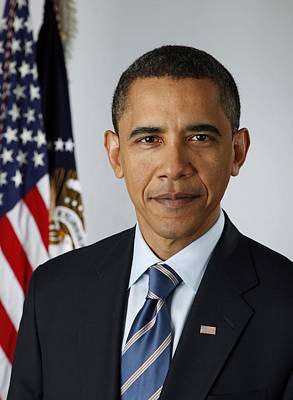 Official Portrait Of President Barack Print by Everett