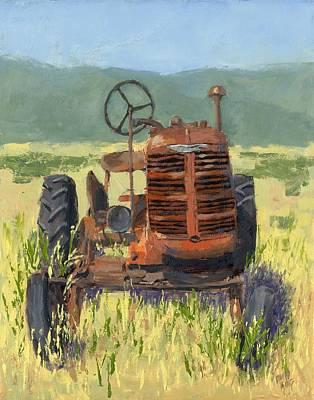 Offset High Crop Art Print