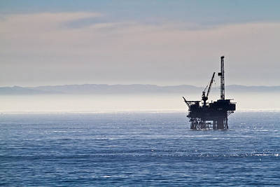Offshore Oil Drilling Rig Art Print
