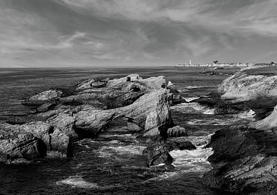 Photograph - Offshore Rocks In Black And White  by Kathleen Bishop