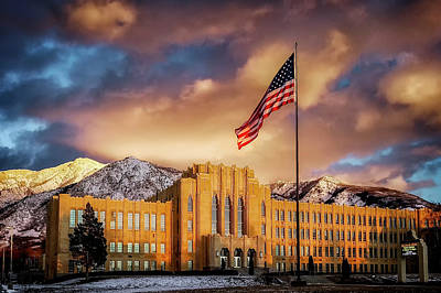 Photograph - Ogden High School At Sunset by Michael Ash