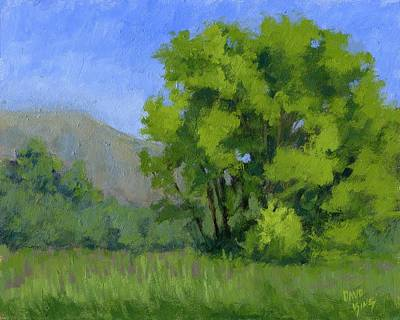 Marsh Scene Painting - Ogden Valley Meadow by David King