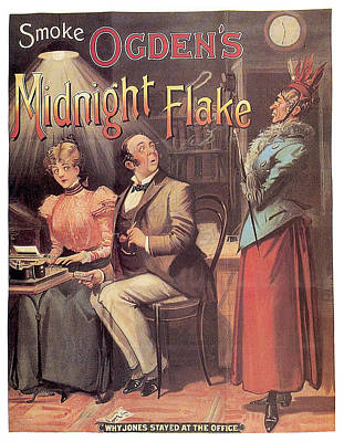 Royalty-Free and Rights-Managed Images - Ogdens Midnight Flake - Tobacco - Vintage Advertising Poster by Studio Grafiikka