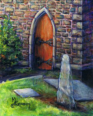 Ogham Stone Original by M Schaefer