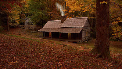 Photograph - Ogle Cabin by Peg Runyan