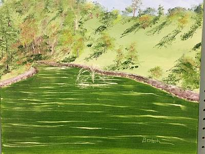 Painting - Oglebay Park's Schenk Lake by David Bartsch