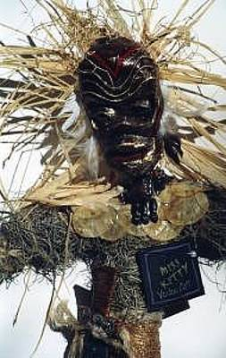Vodou Sculpture - Ogu Vodou Spirit Of Iron by Miss Kitty