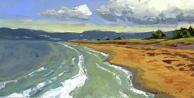 Painting - Ogunquit Beach, Tide Rising by Mary Byrom