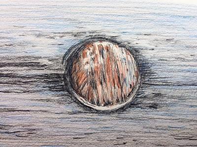 Maine Beach Drawing - Ogunquit Beach V1 by Michael Martone