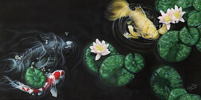 Dakota Painting - Oh Boy Koi by Wayne Pruse