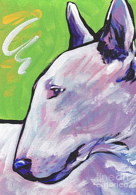 English Bull Terrier Painting - Oh Bull by Lea S