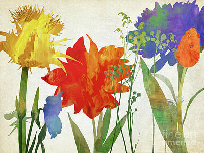 Abstract Flowers Paintings - Oh But For You by Mindy Sommers