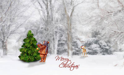 Photograph - Oh Christmas Tree Greeting by Mary Timman