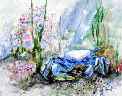 Oh Crab Print by Marsha Elliott