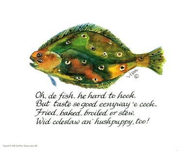 Gullah Painting - Oh De Fish by Vida Miller