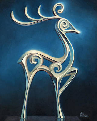 Painting - Oh Deer by Joe Winkler