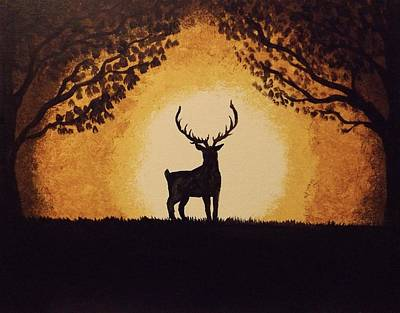 Painting - Oh Deer by Sunshine Ammerman