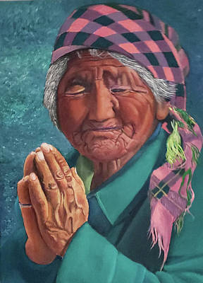 Painting - Oh Great Spirit, Hear My Prayer by JoeRay Kelley