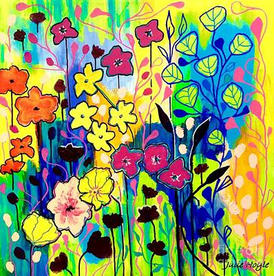 Painting - Oh Happy Day by Julie Hoyle