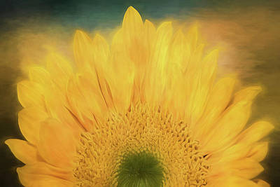 Digital Sunflower Mixed Media - Oh Happy Day  by Teresa Wilson