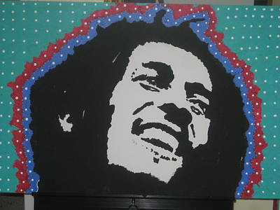 Stencil Of Elvis Drawing - Oh Marley Where Are You Now by Robert Margetts
