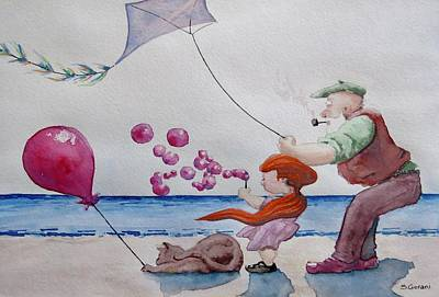 Painting - Oh My Bubbles by Geni Gorani