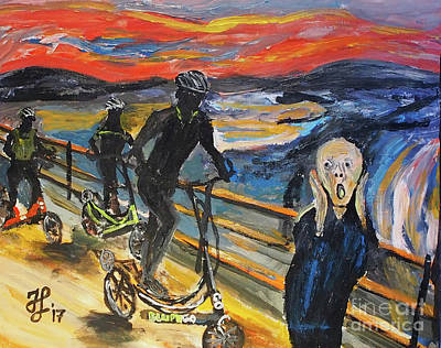 Painting - Oh No,elliptigo by Francois Lamothe