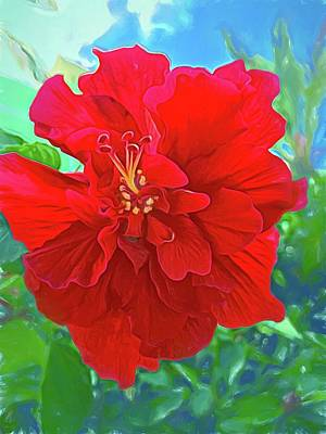 Photograph - Oh So Red Hibiscus by Alice Gipson