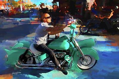 Photograph - Oh So Turq Biker by Alice Gipson