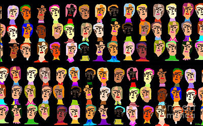 Many Faces Digital Art - Oh The Humanity by Charles Pulley
