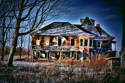 Haunted House Photograph - Oh The Stories by Emily Stauring