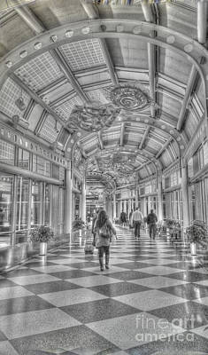 Airport Concourse Photograph - Ohare Concourse by David Bearden