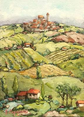 Italian Wine Painting - Ohhh Italia by Beth Capogrossi