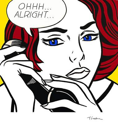 Painting - Ohhh...alright by Roy Lichtenstein