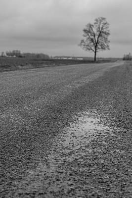 Photograph - Ohio Backroad In Black And White  by John McGraw