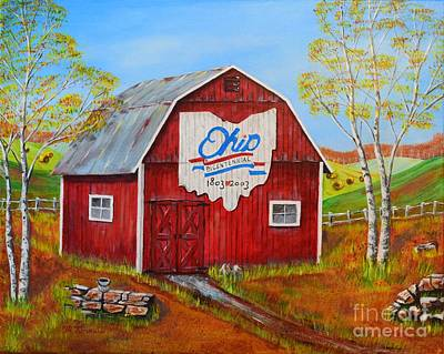 Painting - Ohio Bicentennial Barns 2 by Melvin Turner