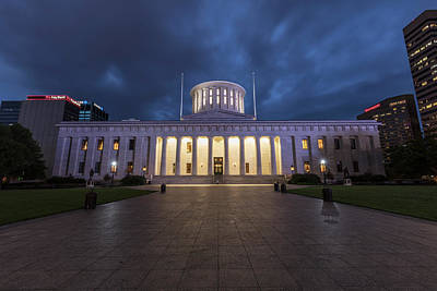 Photograph - Ohio Capital Blue Hour by John McGraw