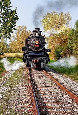 Steam Photograph - Ohio Central #1293 by Marcia Colelli