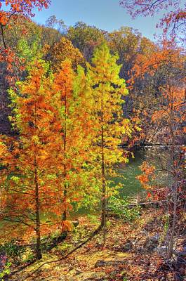 Photograph - Ohio Country Roads - Autumn Colorfest No 2 - Lake Loretta At Alley Park #5, Lancaster, Fairfield Co by Michael Mazaika