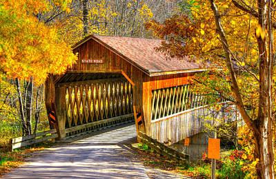 Photograph - Ohio Country Roads - State Road Covered Bridge Over Conneaut Creek No. 11 - Ashtabula County by Michael Mazaika