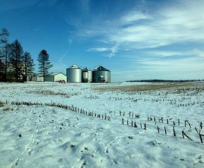 Photograph - Ohio Farm In Winter by John Lyes