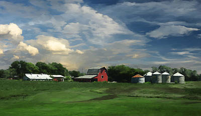 Painting - Ohio Farm by Rick Mosher