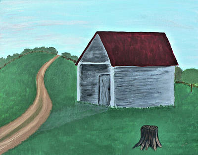 Photograph - Ohio Farm Shed by Kathy K McClellan