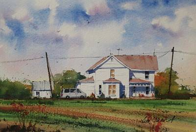 Oberst Painting - Ohio Farmhouse by Jim Oberst