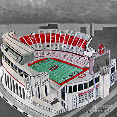 Painting - O.h.i.o Ohio State Stadium by Joseph Palotas
