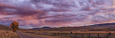 Photograph - Ohio Pass Colorado Sunset Cropped Pano Dsc07586 by Greg Kluempers